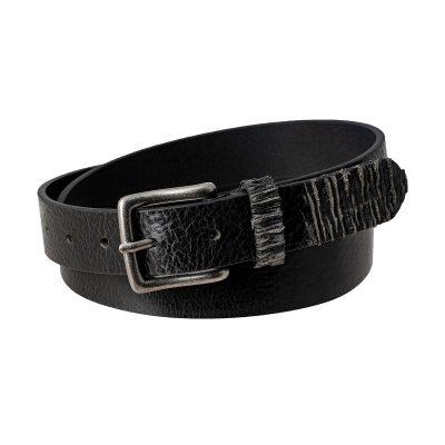 Ceinture fine noire ceinture daim noir texas