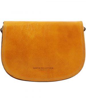 sac en cuir jaune tolfa