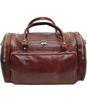 sac de voyage cuir marron praga