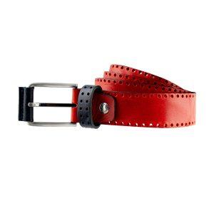 ceinture cuir rouge