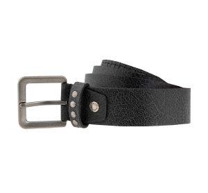 ceinture cuir noir homme storm