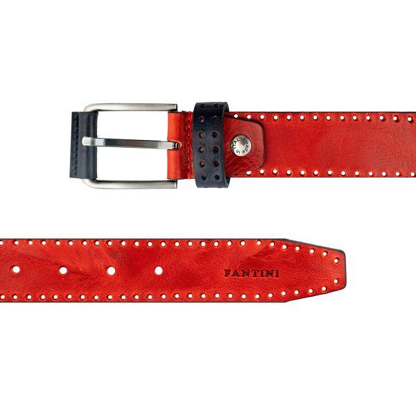 ceinture cuir rouge femme