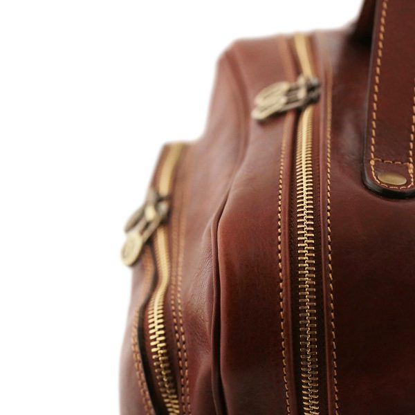 sac a dos cuir marron homme