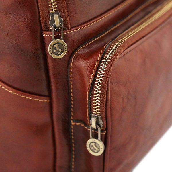 sac a dos cuir marron femme venezia