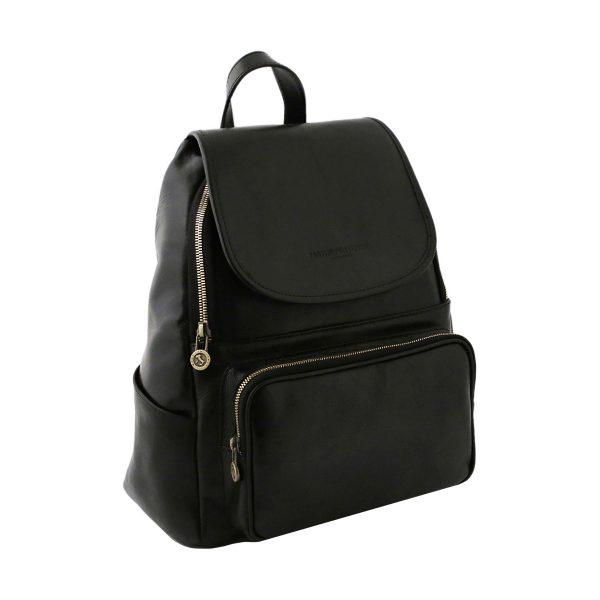 sac a dos noir cuir