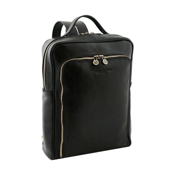 sac a dos noir cuir tuscany