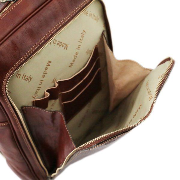 sac à dos cuir marron femme