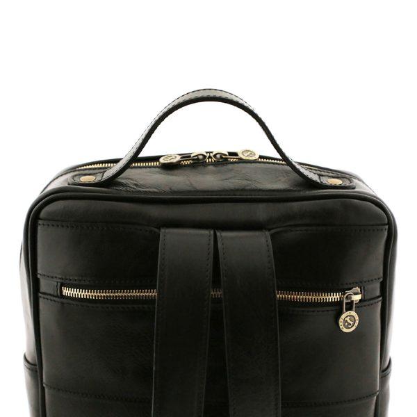 sac à dos femme cuir noir tuscany