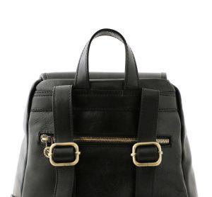 sac a dos noir cuir femme