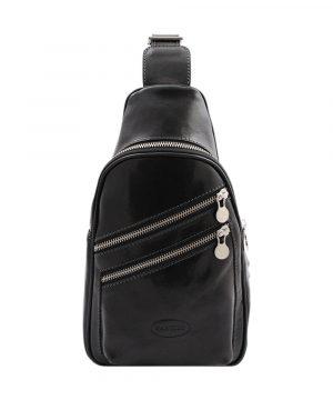 sac bandoulière cuir noir homme vespucci
