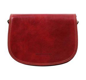 sac en cuir rouge femme