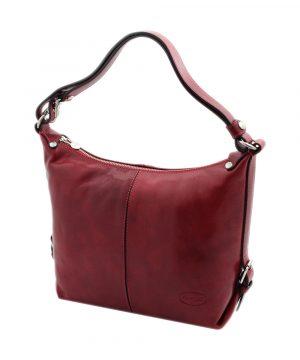 sac cuir rouge femme