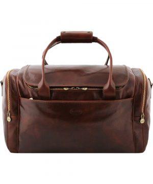 sac de voyage en cuir marron england