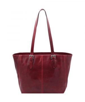 sac en cuir rouge demetra